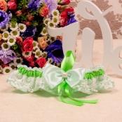 свадебная подвязка зеленая купить