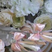 приборы для торта персиково-розовые фото