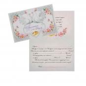 свадебное приглашение с голубями и розами фото