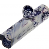 свадебное приглашение свиток синее фото