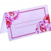 банкетная карточка с розовыми пионами
