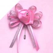 бутоньерка розовая с лентами купить