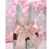бант на свадебное шампанское розовй купить