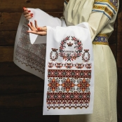 венчальный рушник с венцами фото sale-svadba.ru