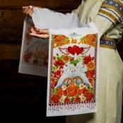 рушник голуи, сердца фото sale-svadba.ru