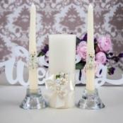 свечи очаг айвори цветочные