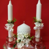 свадебные свечи айвори фото