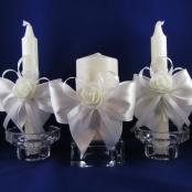 свечи очаг белые купить