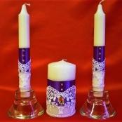 свадебные свечи фиолетовые фото