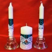 свадебные свечи зеленые фото
