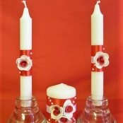 свечи на свадьбу красные купить