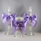 свадебные свечи сиреневые фото