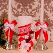 свадебные свечи красные купить