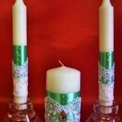 зеленые свадебные свечи фото