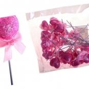 сердечко двойное на палочке розовое