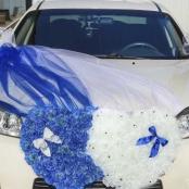украшения на машину бело-синие купить