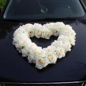 белое сердце на машину фото