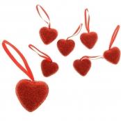 украшения сердечки с блестками купить