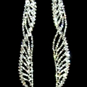 длинные серьги со стразами фото
