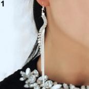 серьги серебро висюльки