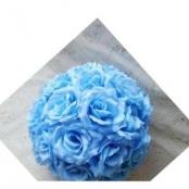 шар из искусственных цветов голубой фото