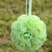 шар искусственные цветы салатовый