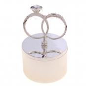 шкатулка для колец с обручальными кольцами