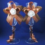свадебные бокалы молочный шоколад фото