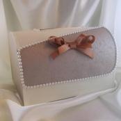 шоколадный свадебный сундучок фото