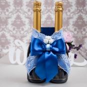 синее украшение на шампанское купить