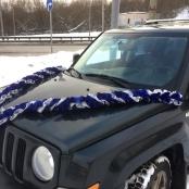 синие ленты на машину фото