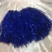 помпоны для танца синие фольнированные