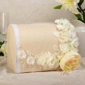 свадебные сундучок айвори с цветами фото