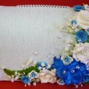 голубая коробка для денег на свадьбу фото