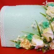 салатовый сундучок для денег на свадьбу