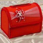 коробка для денег красная разборная фото