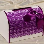 коробка для денег фиолетовая фото