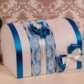 сундучок на свадьбу синий купить