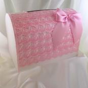 кружевной сундучок розовый купить