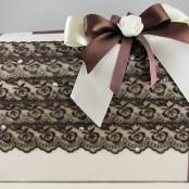 сундучок коричневый для денег на свадьбу