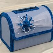 сундук на свадьбу синий фото