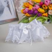 подвязка невесты белая кружевная фото