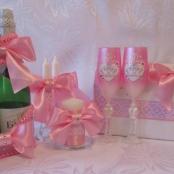 розовые свадебные товары фото