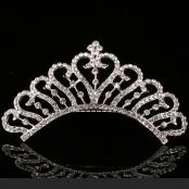 свадебная корона на гребне фото