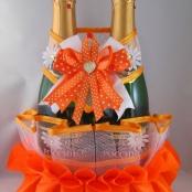 оранжевые свадебные украшения купить
