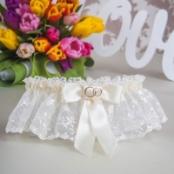 подвязка невесты айвори кружевная