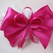 свадебная подвязка малиновая купить