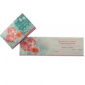 свадебное приглашение тиффани с розовыми розами