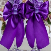свадебные бокалы фиолетовые купить