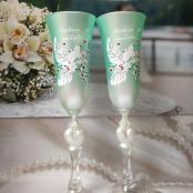 свадебные бокалы тиффани фото